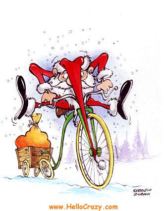 Babbo Natale In Bicicletta.Caro Babbo Natale L Abici Fiab Melegnano In Bici Per L
